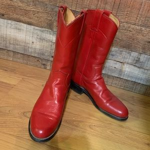Justin red ropers cowboy boots, size 5